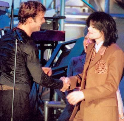 with Ricky Martin