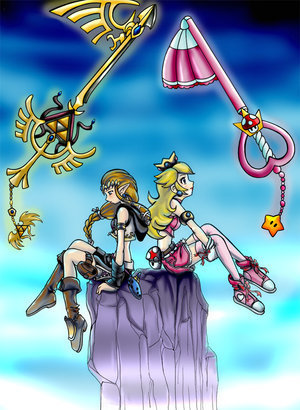 Kingdom Hearts style đào and Zelda