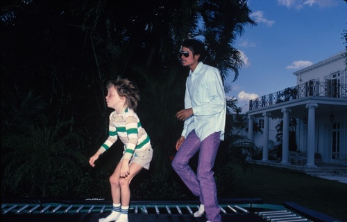 """Michael Jackson wallpaper probably with a street and tights called """"trampoline"""""""