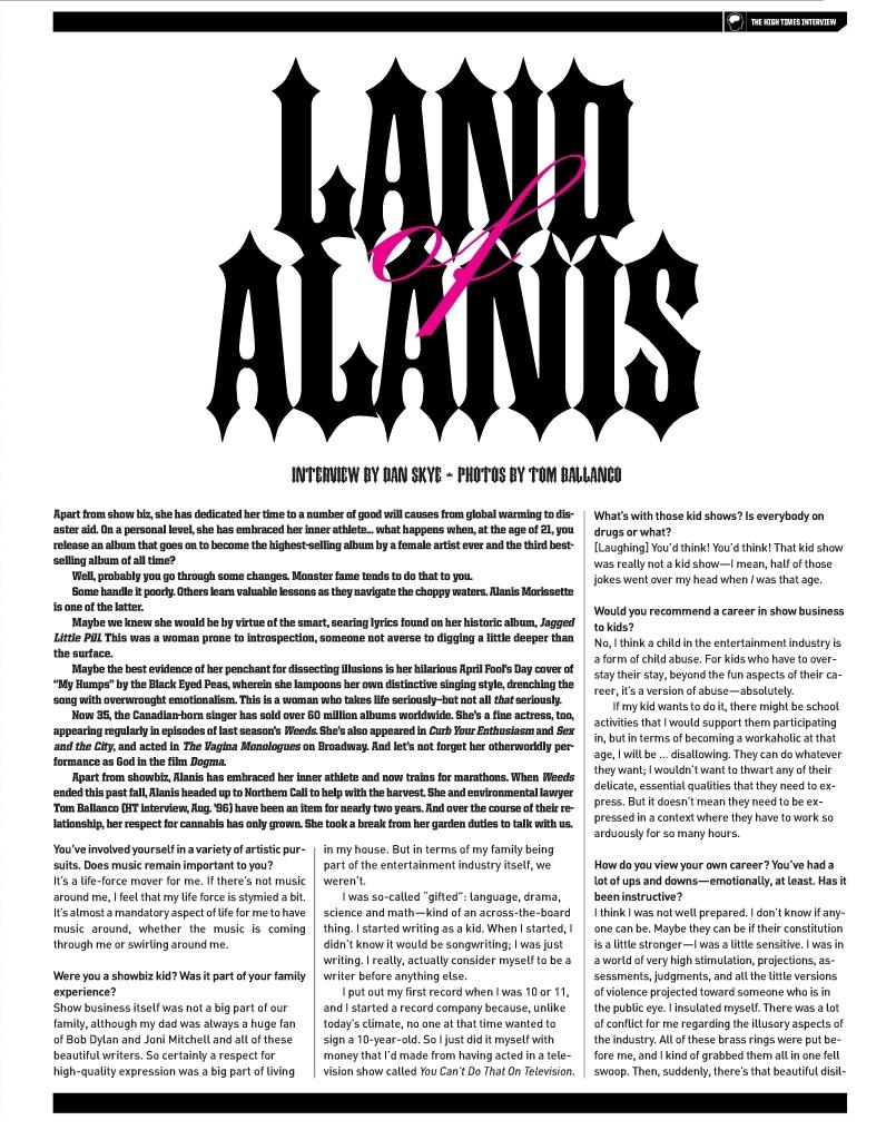 alanis morisette in high times