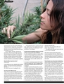 Alanis Morisette in High Times - marijuana photo