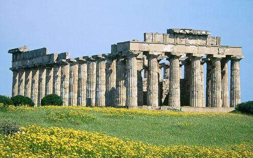 Ancient History wallpaper with a portcullis, an acropolis, and a school titled Ancient Architecture