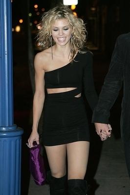 AnnaLynne Leaving a Bar in West Hollywood