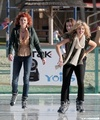 AnnaLynne goes ice skating with her sisters