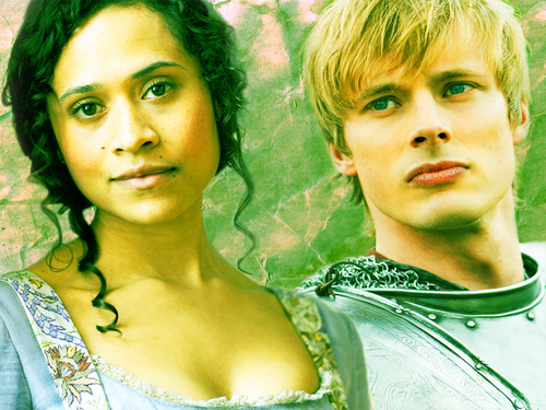 Arthur and Gwen wallpaper probably containing a portrait called Arwen