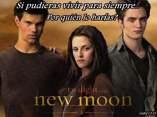 Bella entre Edward y Jacob