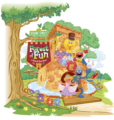 Sesame Street wallpaper titled Busch Gardens - Forest Of Fun