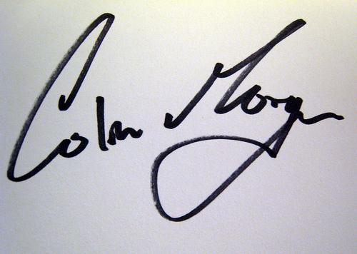 Colin morgan Signature