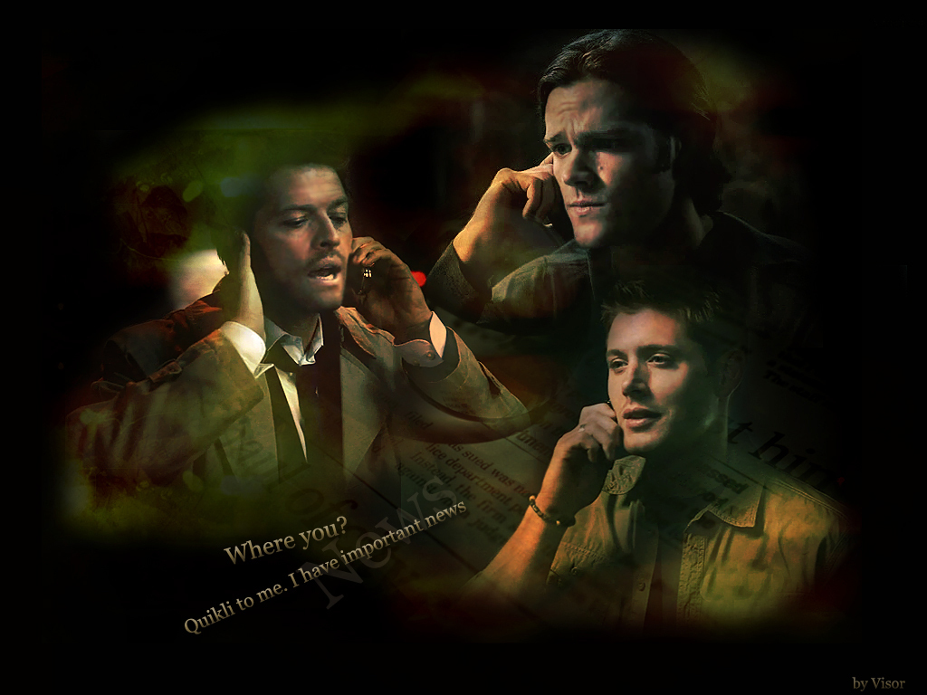 Dean Sam Amp Castiel Supernatural Wallpaper 9253343 Fanpop