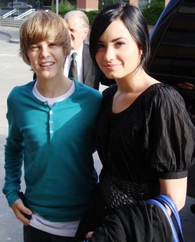 Demi and Justin Bieber