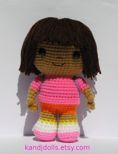 Dora the Explorer wallpaper entitled Dora the Explorer crochet doll