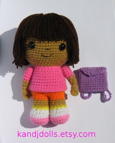 Dora the Explorer crochet doll