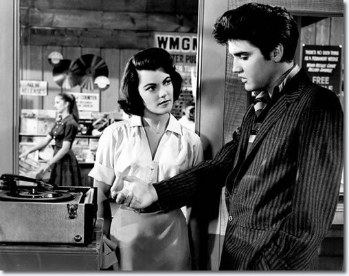 Elvis Presley with Judy Tyler in JAILHOUSE ROCK