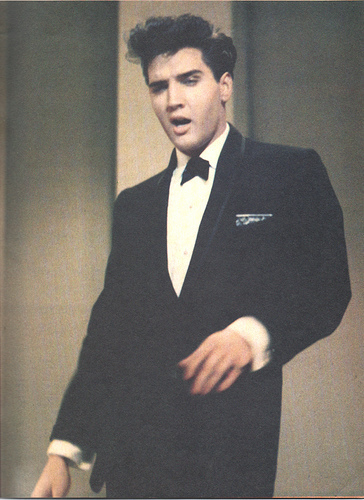 Elvis on stage at Frank Sinatra show 1960