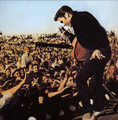Elvis on stage in Tupelo, Mississippi, 1956