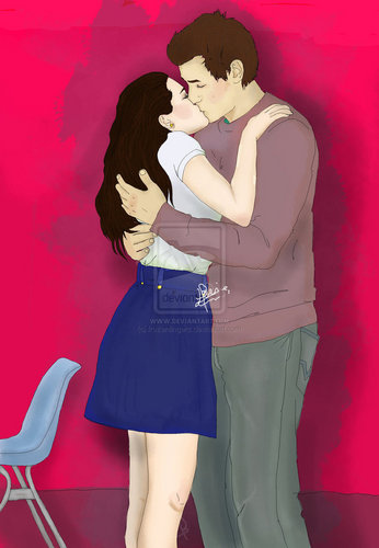 FR kiss fanart - finn-and-rachel Fan Art