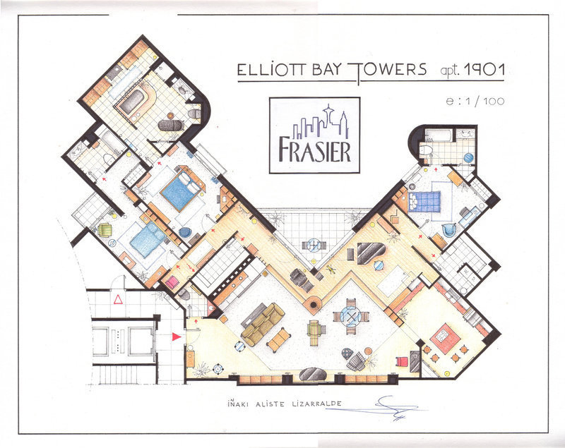Frasiers Apartment Houseplan Frasier Fan Art 9253294