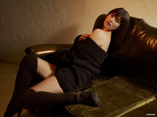Gemma Arterton karatasi la kupamba ukuta possibly containing a hip boot titled Gemma Arterton | Arena Photoshoot (HQ)