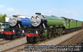 Gordon and Flying Scotsman - thomas-the-tank-engine fan art