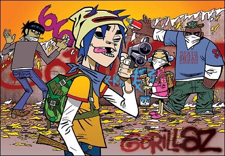 Gorillaz wallpaper containing anime titled Gorillaz