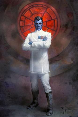 stella, stella, star Wars wallpaper probably with a portello, wicket called Grand Admiral Thrawn