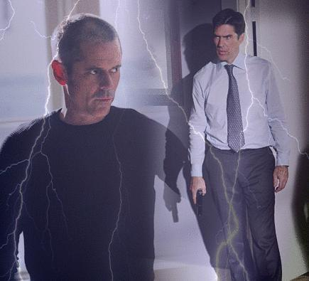 SSA Aaron Hotchner 바탕화면 containing a well dressed person, an outerwear, and long trousers called Hotch And Foyet