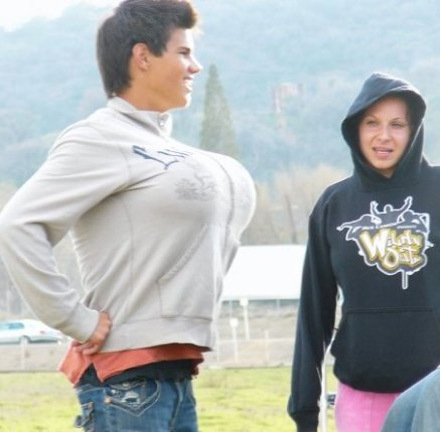 I never knew Taylor Lautner wanted boobs...