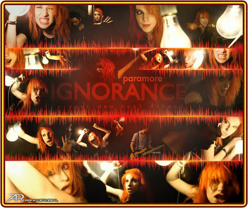 Brand New Eyes Обои possibly containing a sign entitled Ignorance Обои