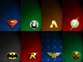 JLA Symbols - dc-comics wallpaper