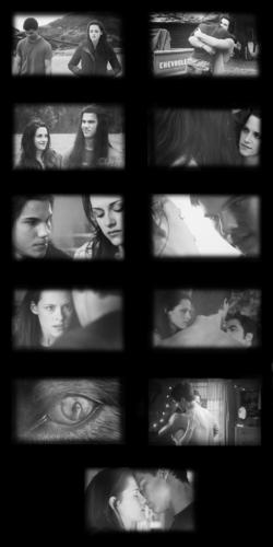Jacob and Bella moments