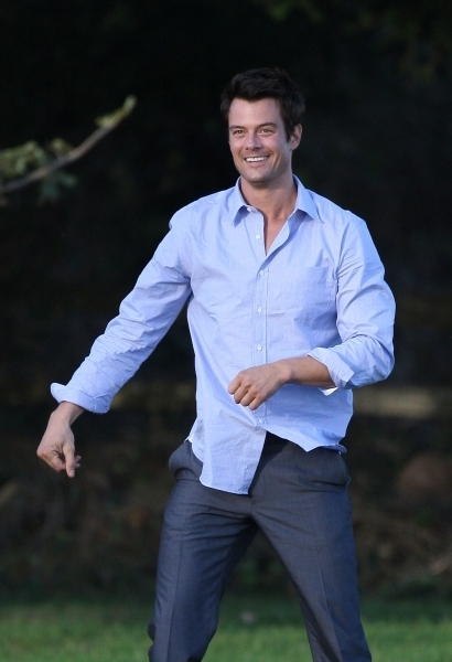"Josh on set ""The Romantics"" - josh-duhamel photo"