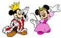 King Mickey and কুইন Minnie