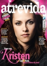 Kristen on the cover of a Brazillan mag