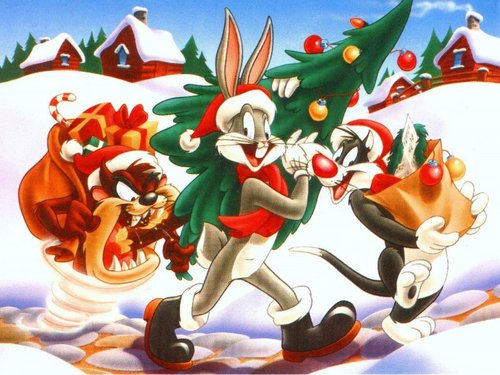 Looney Tunes achtergrond entitled Looney Tunes - Xmas