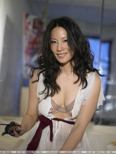 lucy liu wallpaper containing attractiveness and a portrait called Lucy