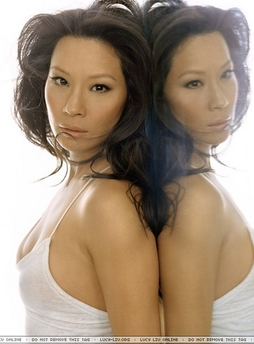 Lucy Liu wallpaper possibly containing attractiveness, a portrait, and skin called Lucy