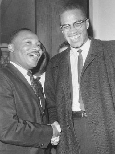 Malcolm with MLK