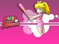 Mario Super Sluggers - peach-and-daisy wallpaper