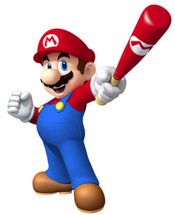 Mario in Mario Super Sluggers