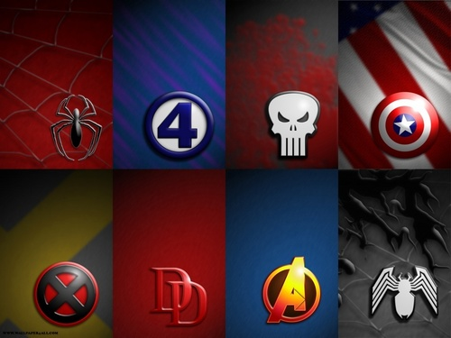 Marvel Symbols - marvel-comics Wallpaper