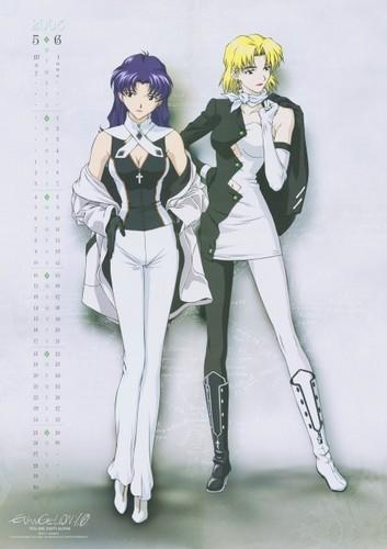 Misato and Ritsuko
