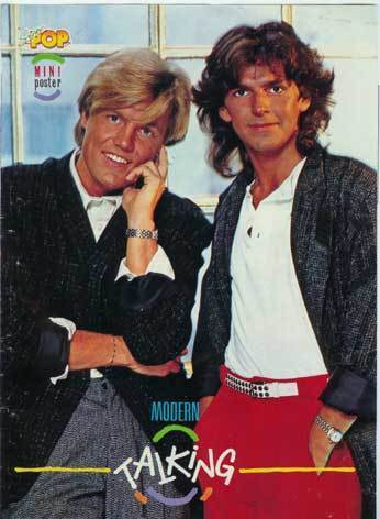 Modern Talking achtergrond titled Modern Talking - Dieter & Thomas