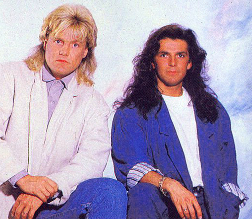 Modern Talking achtergrond probably with a well dressed person called Modern Talking - Dieter & Thomas