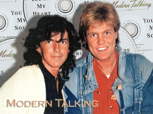 Modern Talking Hintergrund possibly with a sign titled Modern Talking