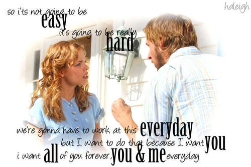 The Notebook wallpaper with a portrait titled Noah&Allie