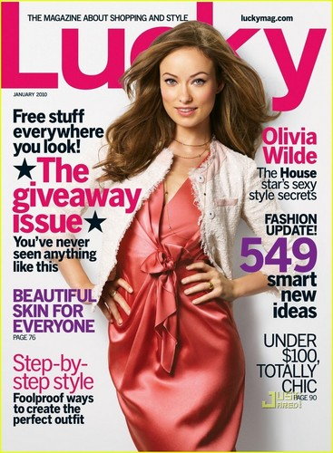 Olivia Wilde Covers 'Lucky' January 2010