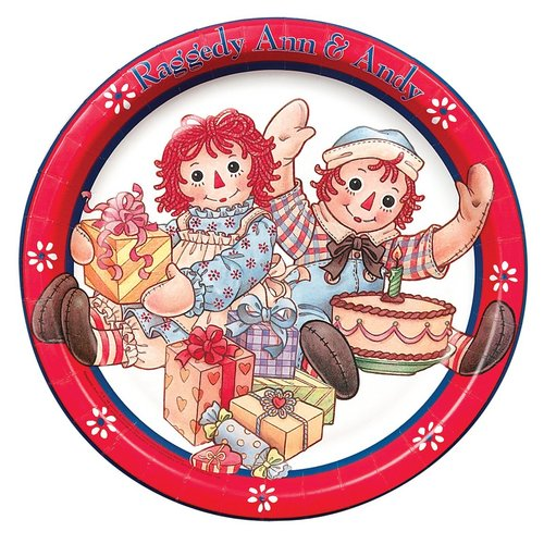 Raggedy Ann And Andy Paper Plate