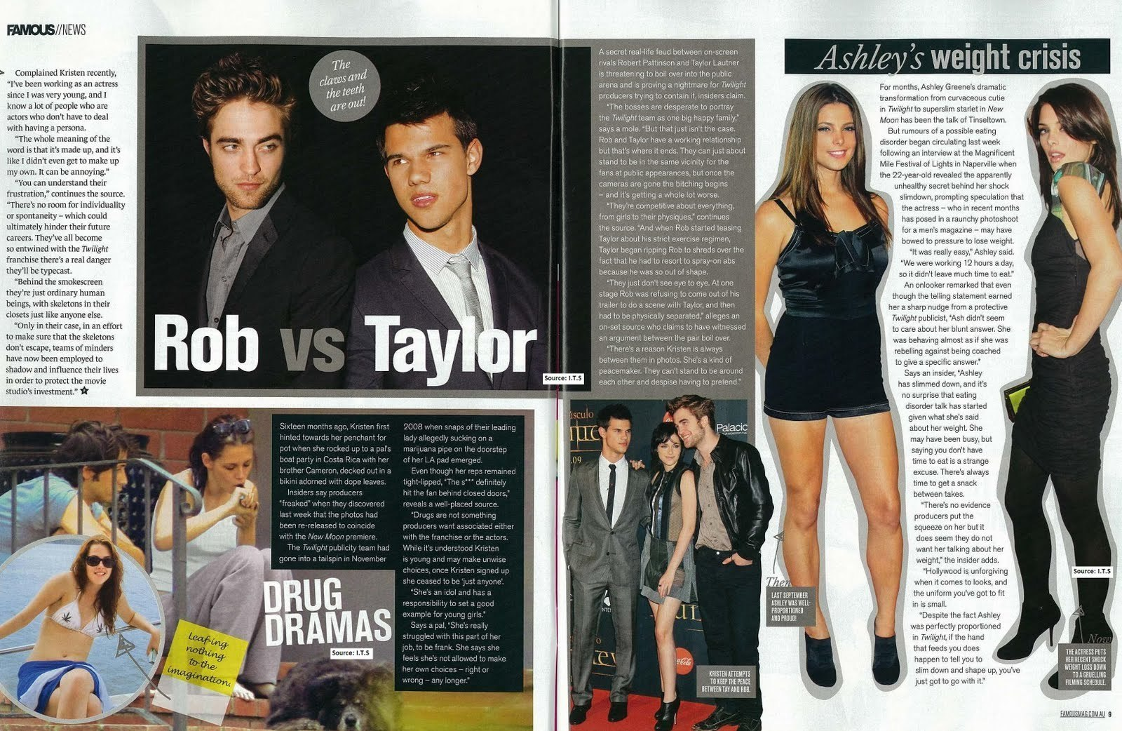 "Robert Pattinson & New Moon in Australia's ""Famous"" Magazine"