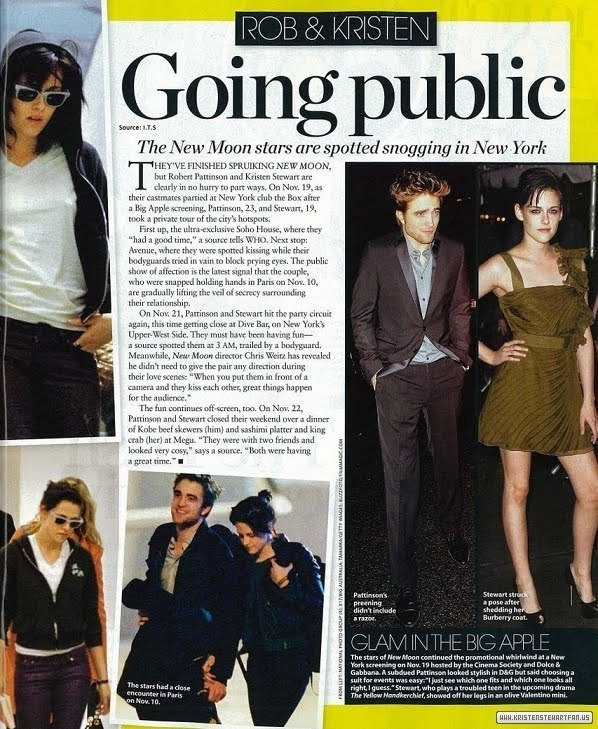 "Robert Pattinson and Kristen Stewart in ""Who"" Magazine"