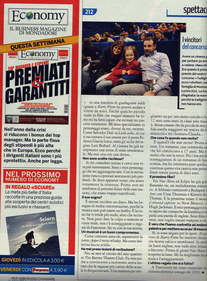Scans: Rob in Italian Magazine Panorama